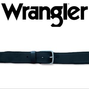 Wrangler Basic Metal Loop Adjustable Leather Belt